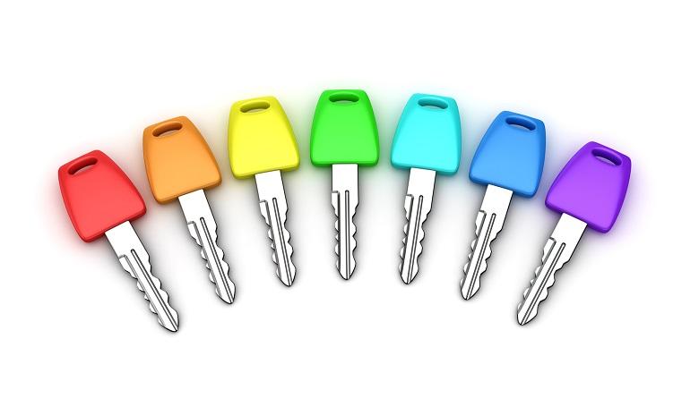 Seven car keys